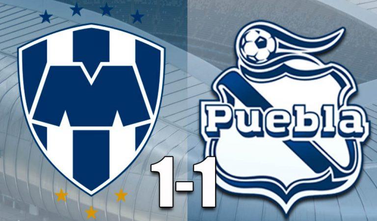Puebla le saca un punto agónico a Rayados